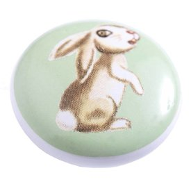 Living Colour Kastknopje kinderkamer konijn groen