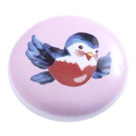 Living Colour Kastknopje kinderkamer vogel roze