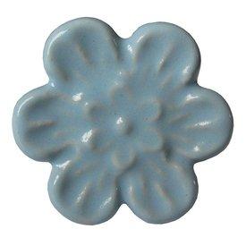 Harvey's Home Deurknop relief bloem blauw