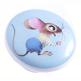 Living Colour Kastknopje kinderkamer muis lichtblauw