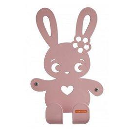 Roommate Roommate kinderkapstok konijn Ninus pastel roze