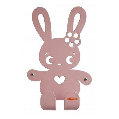 Roommate kinderkapstok konijn Ninus pastel roze