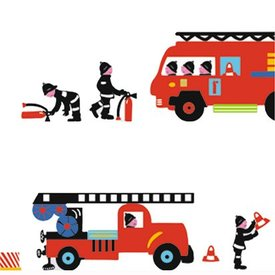 Nouvelles Images Nouvelles Images muurstickers brandweer