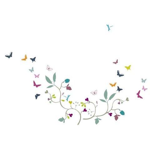 Nouvelles Images muursticker vlinders poppy blossom