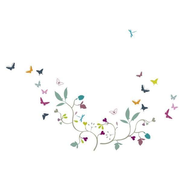 Nouvelles Images Nouvelles Images muursticker vlinders poppy blossom