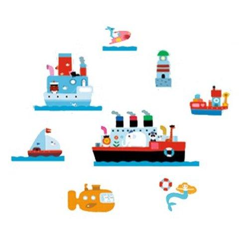 Nouvelles Images muurstickers boten