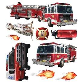 Roommates Roommates muurstickers brandweerauto
