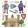 Roommates muursticker ridders