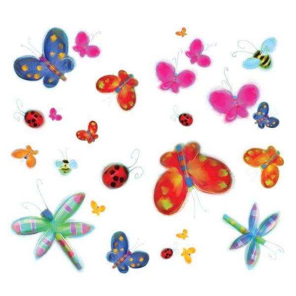 Roommates Roommates muursticker vlinders en libelles