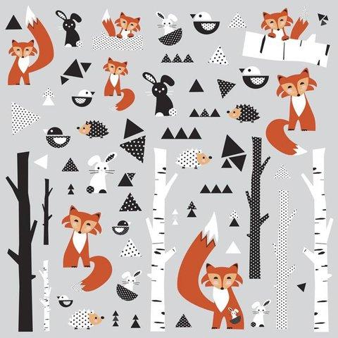 Roommates muursticker vos fox forest