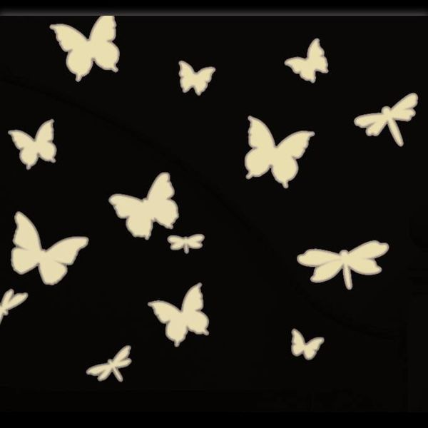 Roommates Roommates muursticker vlinders en libelles glow in the dark