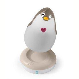 Pabobo Pabobo Lumilove nachtlampje pinguin grijs met muziek