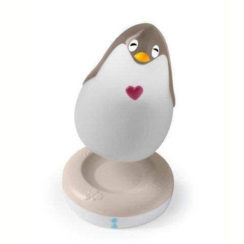 Pabobo Lumilove nachtlampje pinguin grijs met muziek