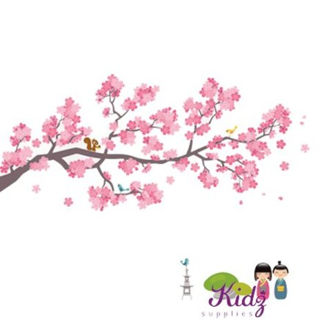 Nouvelles Images muursticker kinderkamer tak met geisha XXL