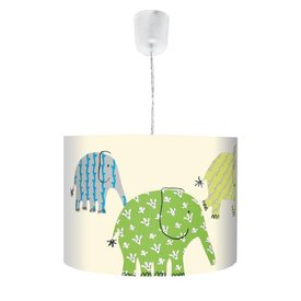 Waldi-Leuchten Designers Guild kinderlamp olifanten groen