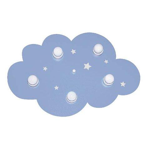 Kinderlamp plafonniere wolk blauw