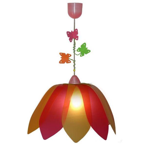 Waldi-Leuchten Kinderlamp bloem met vlinders