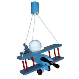 Waldi-Leuchten Kinderlamp vliegtuig blauw/rood