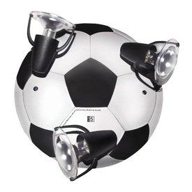 Waldi-Leuchten Kinderlamp plafond voetbal zwart wit
