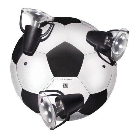 Kinderlamp plafond voetbal zwart wit