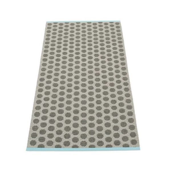 Pappelina Pappelina plastic vloerkleed Noa charcoal/warm grey