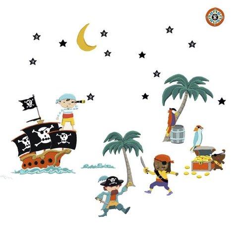 Nouvelles Images muurstickers piraten