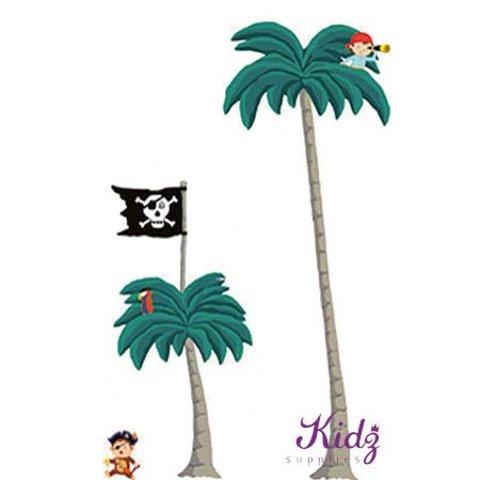 Nouvelles Images muurstickers palm en piraten XXL
