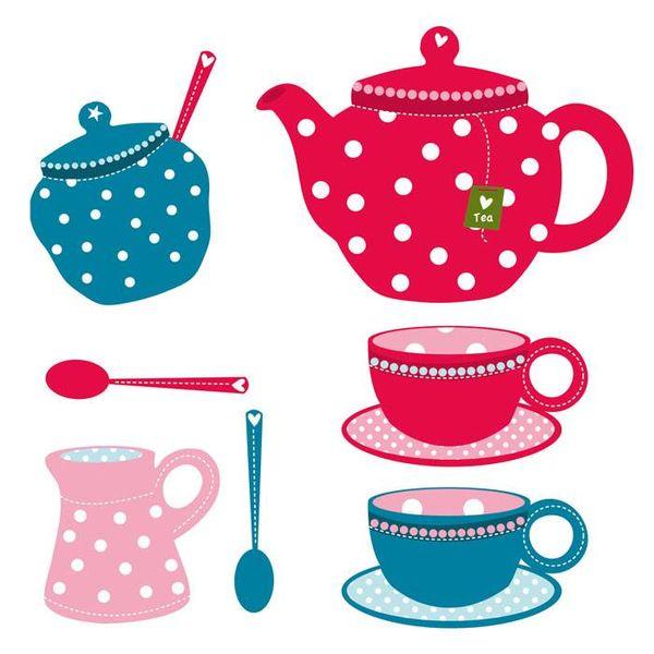 Kidslab Kidslab muursticker tea time