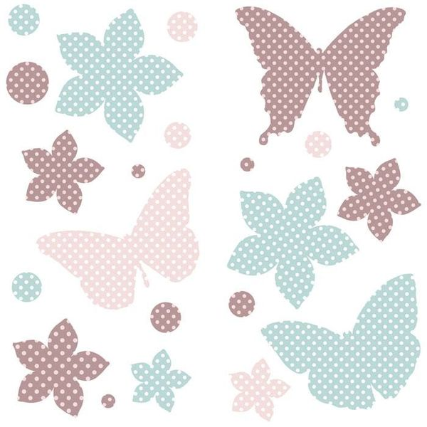 Kidslab Kidslab muursticker vlinders