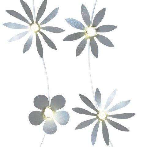 Lichtslinger bloemen zilver