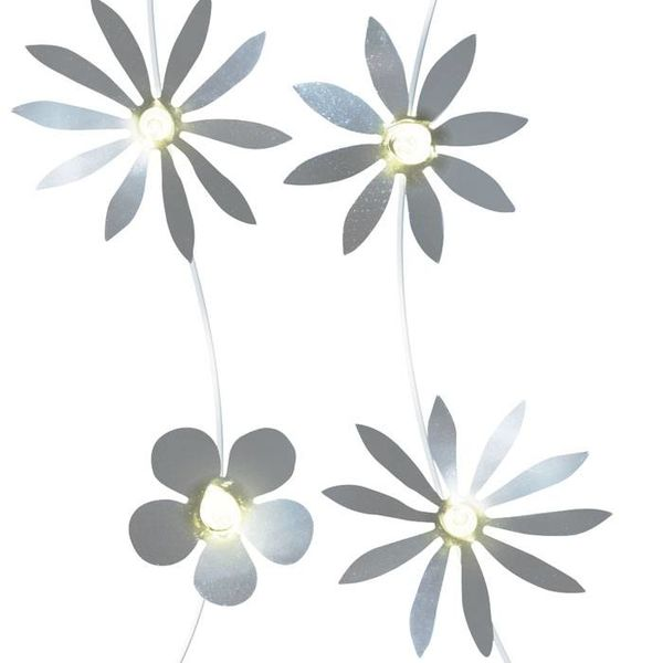 Originell Quandt Lichtslinger bloemen zilver