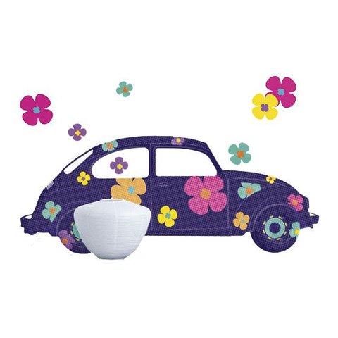 Nouvelles Images muursticker auto met bloemen