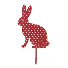 Sass & Belle RJB Stone kapstokje konijn stippen rood