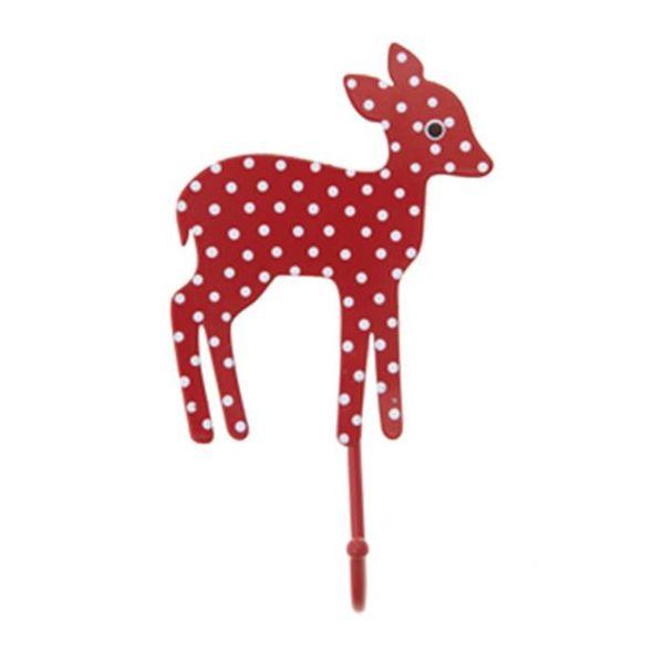 Sass & Belle RJB Stone kapstokje bambi stippen rood