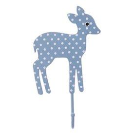Sass & Belle RJB Stone kinderkapstokje bambi stippen lichtblauw