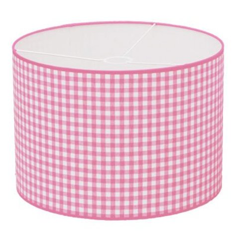 Taftan kinderlamp ruit roze