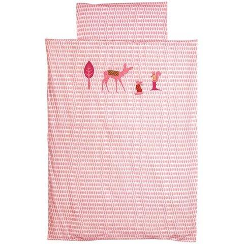 Taftan beddengoed bambi roze