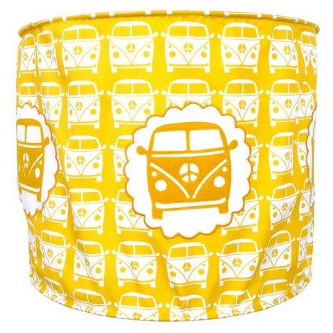 Taftan kinderlamp auto little van geel