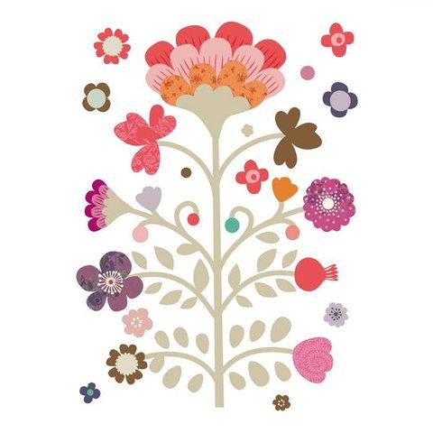 Mini labo muursticker boom volk blossom