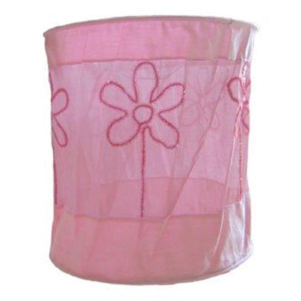 Taftan Taftan kinderlamp kraaltjes bloemen roze