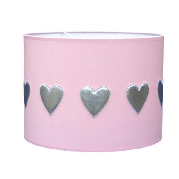 Taftan Taftan kinderlamp hartjes roze