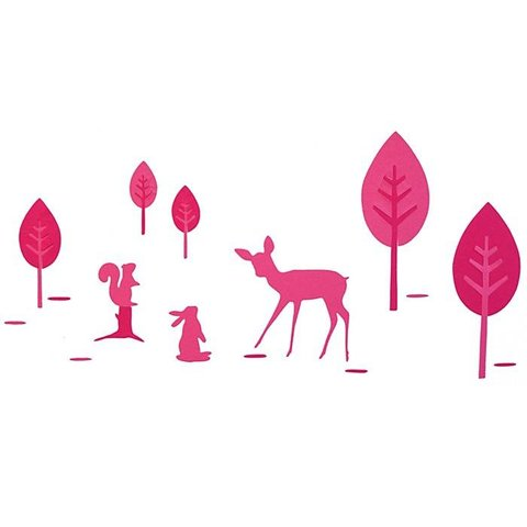Taftan muursticker bambi roze