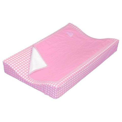 Taftan verschoonkussen hoes met dekentje roze