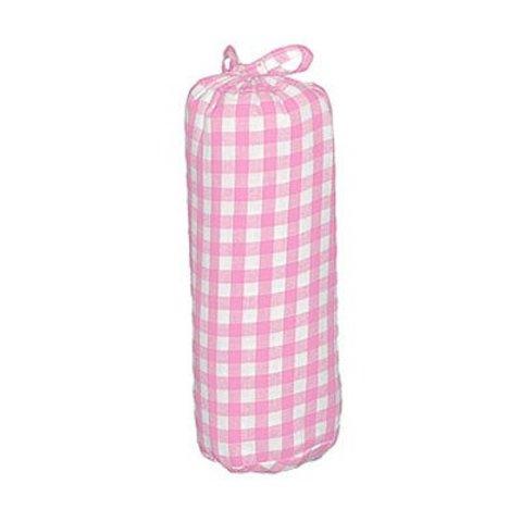 Taftan hoeslaken grote ruit roze 70x150