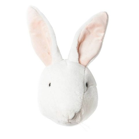 BiBiB dierenkop pluche konijn wit