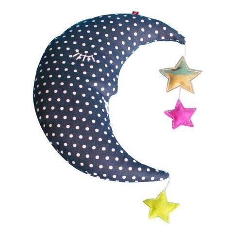 Pakhuis Oost knuffel maan met sterretjes donkerblauw