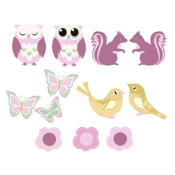 Perron 11 Perron 11 behangdieren bos roze