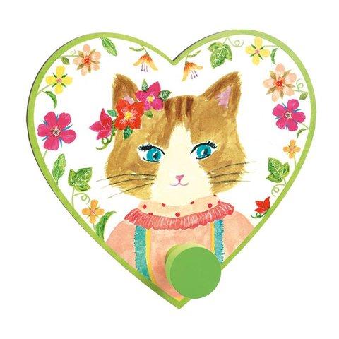 Djeco kinderkapstok hartje Miss Cat