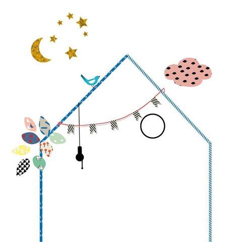 Mimilou muursticker huisje ma petite maison