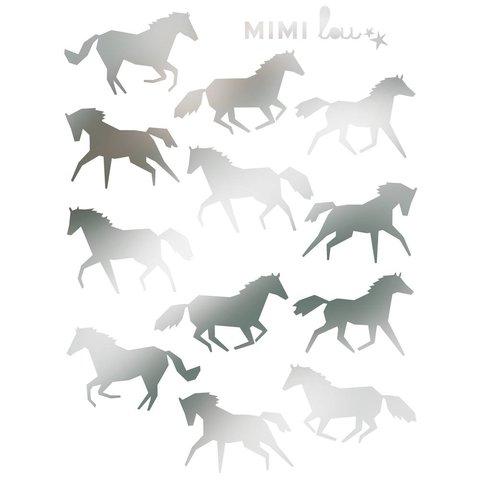Mimilou muursticker paarden mini